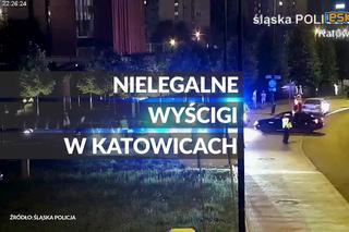 Szybkie samochody stanęły do nielegalnego wyścigu w Katowicach. Interweniowała policja [ZDJĘCIA, WIDEO]